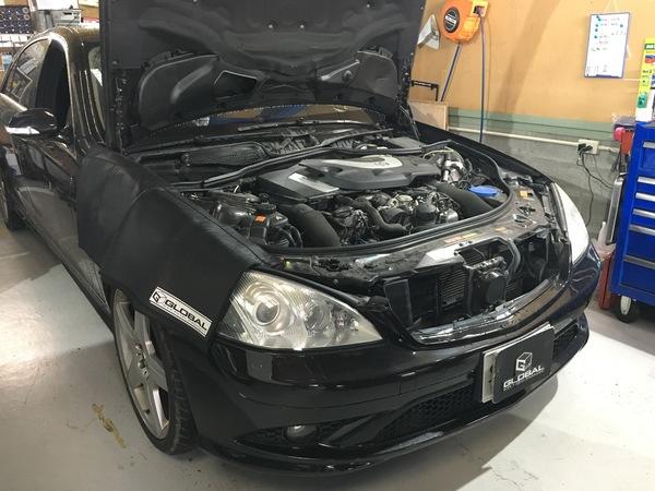 メルセデスベンツ修理(W221 S500) ABS、ESP警告灯の点灯!