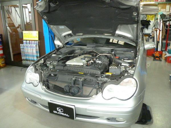メルセデスベンツ W203 Cクラス 車検整備!!(*´▽`*)