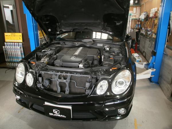 W211 E500 エアサス修理!ロアリング取付!!
