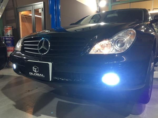 W219 CLS350 FOG HID取付!(^^♪